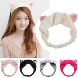 1pcs Rabbit Bunny Ear Makeup Headband  Mask Soft Hair Band W