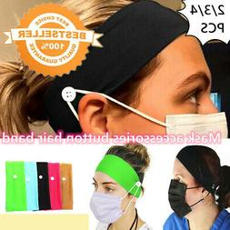 2/3/4Mask accessories fitness elastic hair band solid color