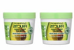 2 Packs Garnier Fructis Smoothing Treat 1 Minute Hair Mask A