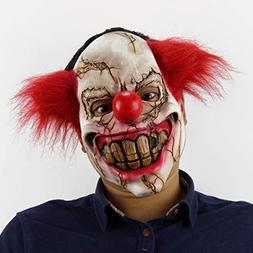 2018 Scary Halloween Mask,Realistic Clown Halloween Face Mas