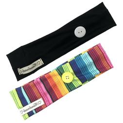 2pcs Elastic Headwrap Hair Accessories Hair Band with Holdin