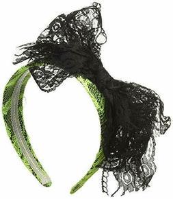 80's Headband Neon Green Or Orange Lace Covered Headband W/