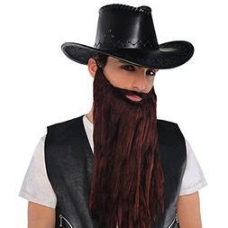 Amscan 840921 Plush Beard/Moustache Brown Facial Hair Plush,