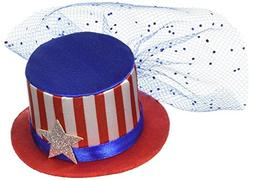 Amscan American Summer Fourth of July Hat Hair Clip Accessor
