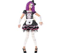 Amscan Damaged Doll Halloween Costume for Girls, Large, with