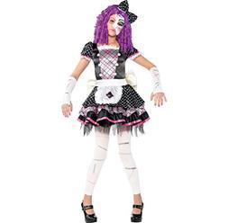 Amscan Damaged Doll Halloween Costume for Girls, Medium, wit