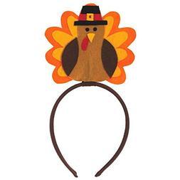 Amscan Festive Fall Thanksgiving Party Turkey Head Bopper We