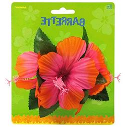 Amscan Hawaiian Summer Luau Party Pink Flower Accessory, 1 P