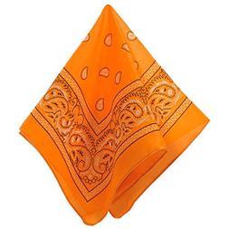 Amscan Neon Orange Bandana Western Cowboy Costume Party Head