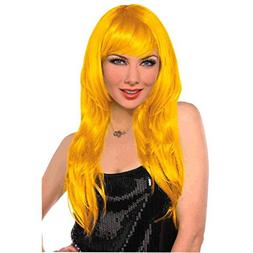 Amscan Glamourous Party Wig Costume, Yellow