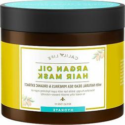 Calily Life Organic Moroccan Argan Oil Hair Mask with Dead S
