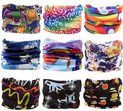 KINGREE 9PCS Headbands, Outdoor Multifunctional Headwear, Sp