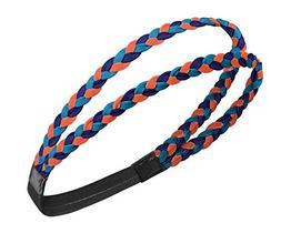 Men and Women Sports Scarf Hair - Headband-Blue Orange