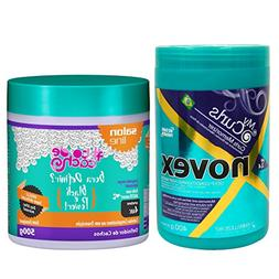 Novex My Curl Hair Mask 14.1oz & Salon Line Bora Definir Bla