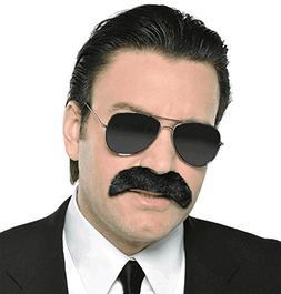 Wacky Facial Hair Good Fella Moustache Costume Accessory, Se