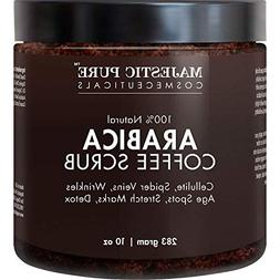 Majestic Pure Arabica Coffee Scrub - All Natural Body Scrub