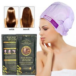 Moisturizing Heating Steam Hair Mask Keratin Repair Treatmen