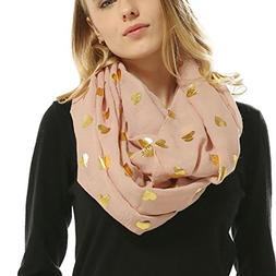 Auwer® Wrap Scarves, Lady Women Soft Bronzing Heart-Shaped