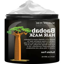 Majestic Pure Baobab Hair Mask Hydrating Smooths Frizzy Sulf