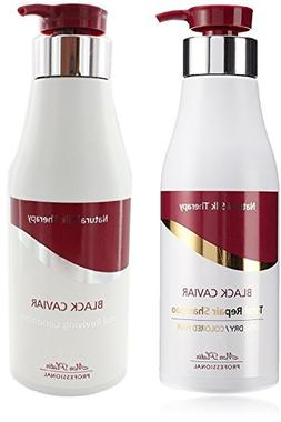 Mon Platin Black Caviar Total Repair Shampoo 17 oz + Revivin