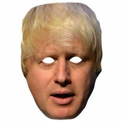 Boris Johnson Politician Celebrity Card Face Mask Long Hair