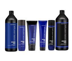 Matrix Brass Off Conditioner For Blonde Hair Shampoo, Condit