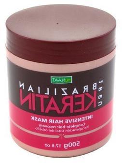 Nunaat Brazilian Keratin Intense Hair Mask 17.6 oz. Jar