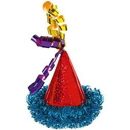 Bright Balloons Birthday Party Mini Cone Hat Hair Clip Acces