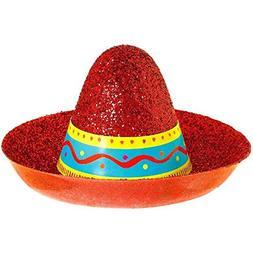 Amscan Cinco De Mayo Fiesta Party Mini Sombrero Glitter Hat