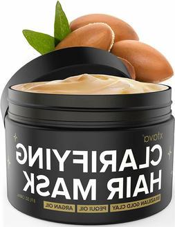 Xtava Clarifying Clay Hair Mask with Argan Oil - 8Oz Hair Tr