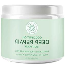 Coconut Oil Hair Mask, Deep Conditioning Hair Treatment for