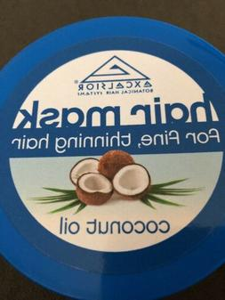 Excelsior Coconut Oil Hair Mask Jar 6 oz. For Dry Fine Thinn