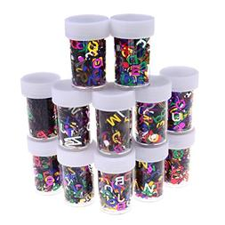 12 Pieces Colorful Glitter Shaker Jars DIY Materials for Chi