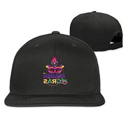 Colorful Mardi Gras Mask Flat-brimmed Hip-Hop Style Baseball