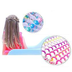 AOBILE 6Pcs Colorful Rubber Band Clay Hair Band Twist Haircl