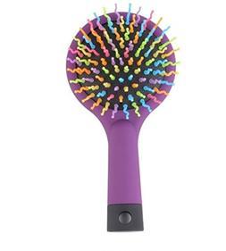 1 Pack Comb Hair Brush Rainbow Anti-static Magic Curl Straig