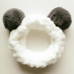 Cute Bunny Ear Makeup Headbands for Washing Face Shower Spa