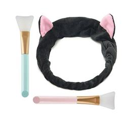 Aysekone DIY Facial Mask Tool Set:1pc Cute Black Elastic Cat