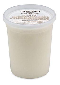Extra Virgin Coconut Oil 32 oz. Bulk 100% Pure Unrefined Col
