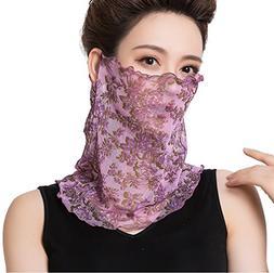 Fasbys Women Face Mask Scarf Sun Protection Dust Neck Headwe