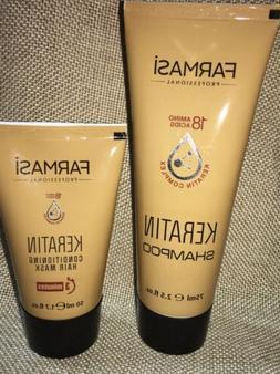 farmasi professional series keratin shampoo and hair