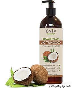 Viva Naturals Fractionated Coconut Oil, 16 oz - Ultra Hydrat