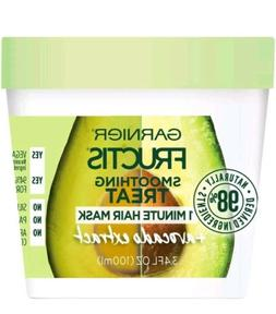 2 Garnier Fructis Smoothing Treat 1 Minute Hair Mask Avocado