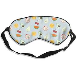 Fruits Mix Pattern Vector Sleep Eyes Masks - Comfortable Sle