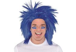 Amscan Game Ready Team Spirit Party Crazy Wig Accessory, 1 P