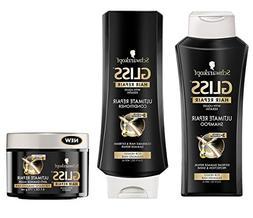 Schwarzkopf Gliss Ultimate Repair Shampoo, Conditioner & Tre