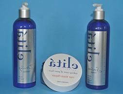 elita Set: Salon Shampoo 12 oz, Hair Mask Repair 8 oz, Dail