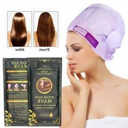 Hair Mask Automatic Heating Steam Keratin Argan Oil Treatmen