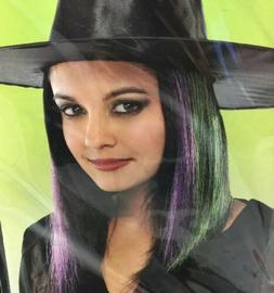 "Halloween Costume Witch Purple & Green 15"" Hair Extensions"