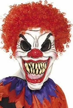 Halloween Men's Scary Clown Mark Red Hair Latex Ugly Adult C